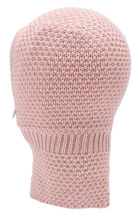 Детского шерстяная шапка-балаклава IL TRENINO розового цвета, арт. 19 5970/E2 | Фото 2