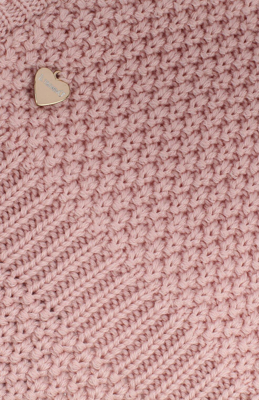 Детского шерстяная шапка-балаклава IL TRENINO розового цвета, арт. 19 5970/E2 | Фото 3