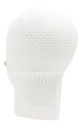 Детского шерстяная шапка-балаклава IL TRENINO белого цвета, арт. 19 5970/E2   Фото 2