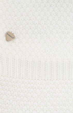 Детского шерстяная шапка-балаклава IL TRENINO белого цвета, арт. 19 5970/E2   Фото 3