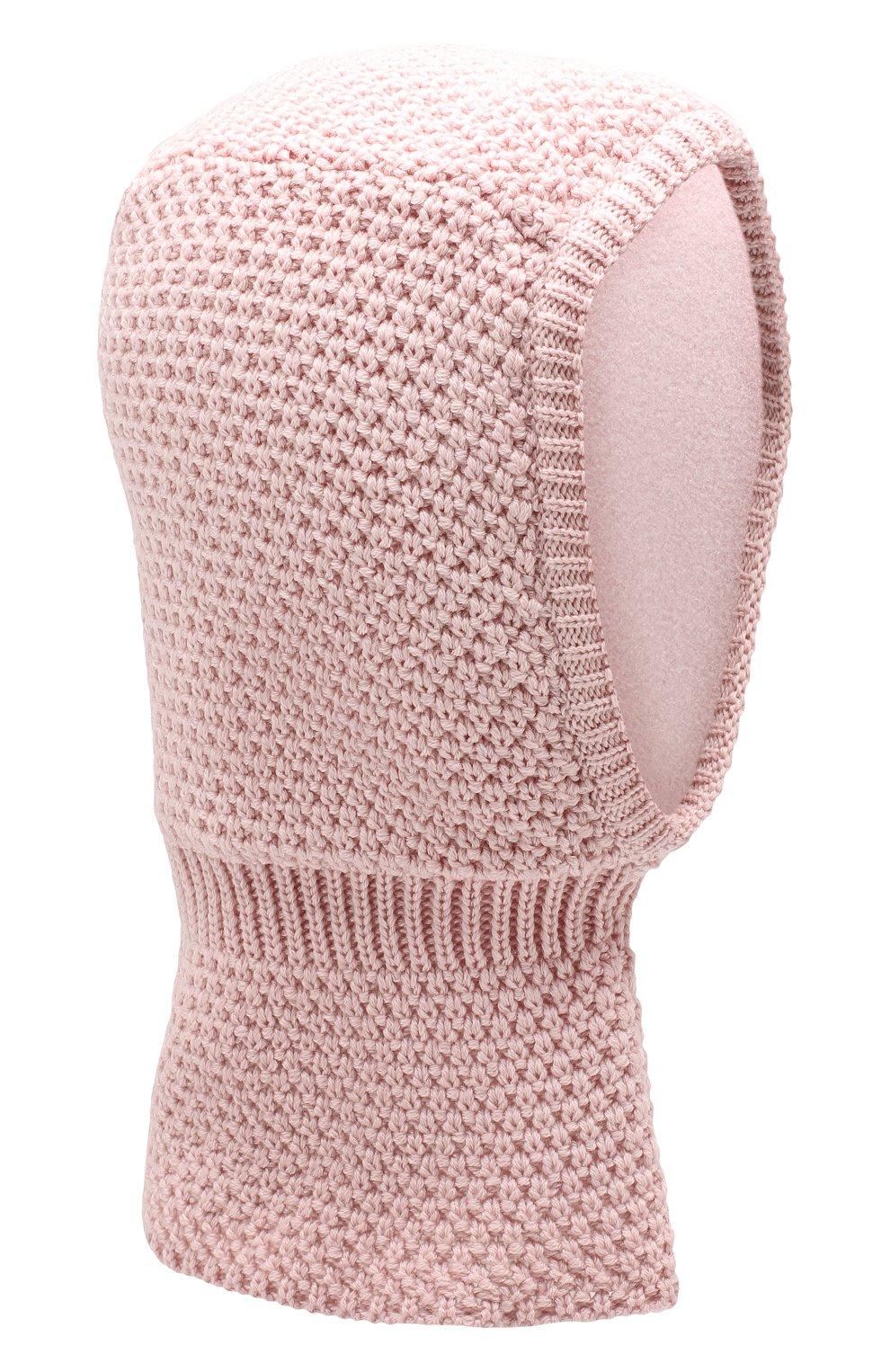 Детского шерстяная шапка-балаклава IL TRENINO розового цвета, арт. 19 5970/E0   Фото 1