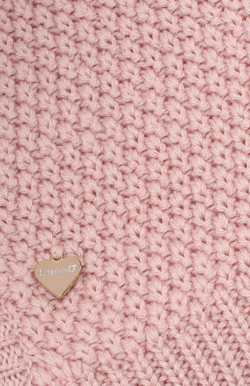 Детского шерстяная шапка-балаклава IL TRENINO розового цвета, арт. 19 5970/E0   Фото 3