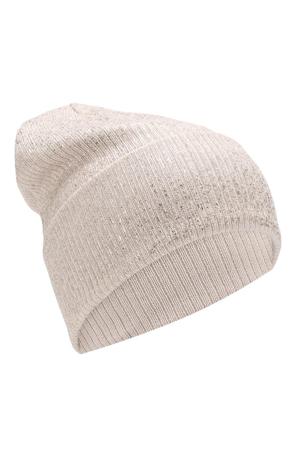 Детского шерстяная шапка IL TRENINO бежевого цвета, арт. 19 5961/E0 | Фото 1