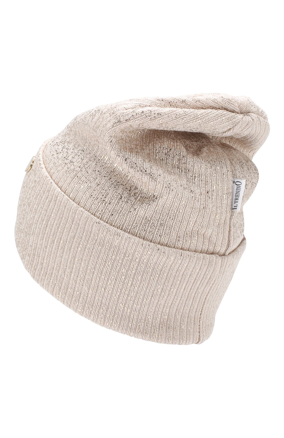 Детского шерстяная шапка IL TRENINO бежевого цвета, арт. 19 5961/E0 | Фото 2