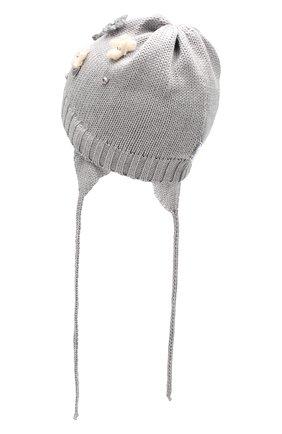 Детского шерстяная шапка IL TRENINO серого цвета, арт. 19 5942/FG | Фото 2