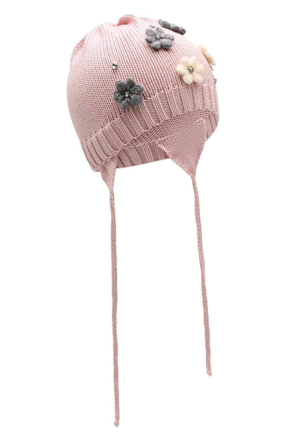 Детского шерстяная шапка IL TRENINO розового цвета, арт. 19 5942/FG | Фото 1