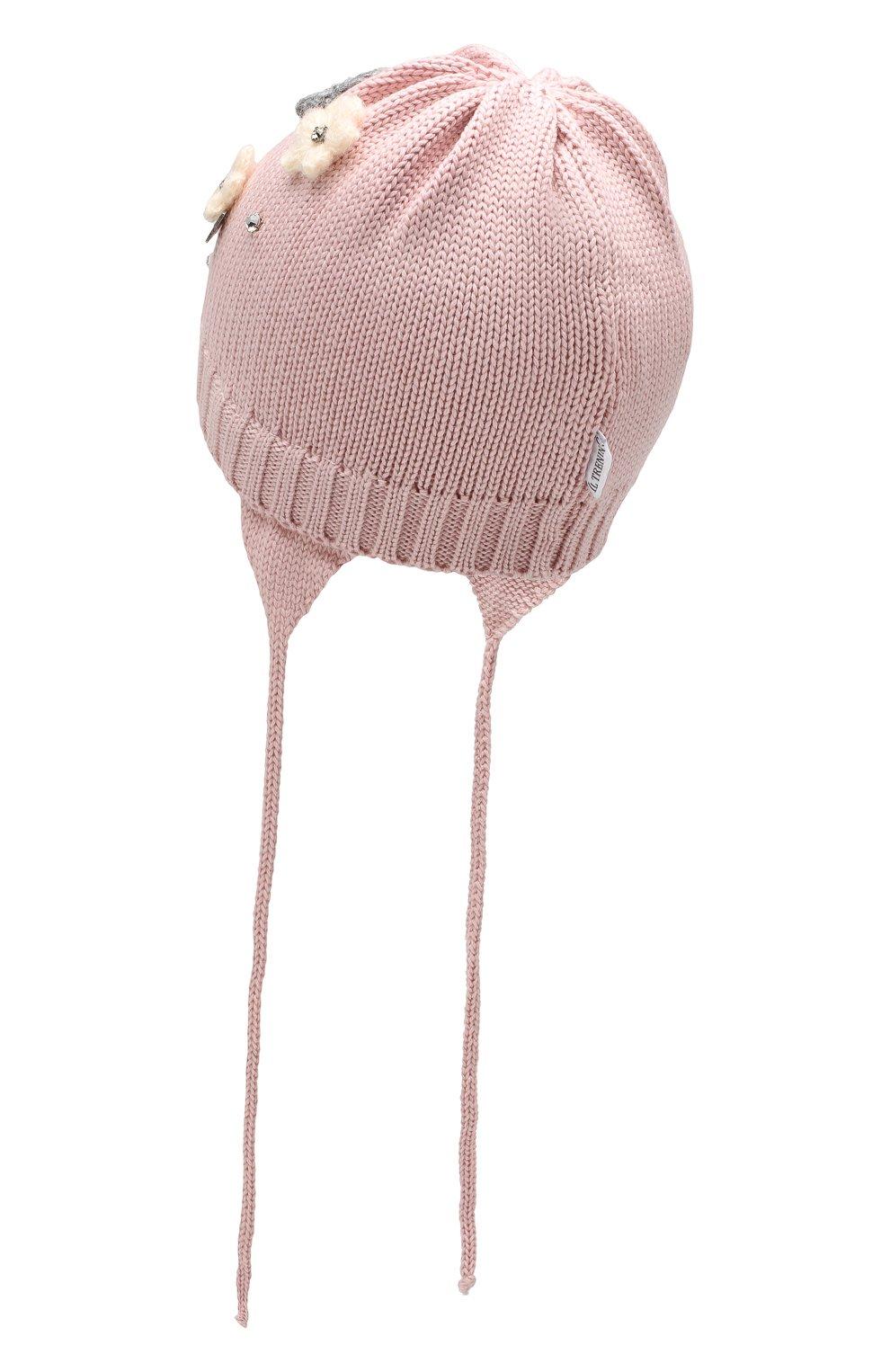 Детского шерстяная шапка IL TRENINO розового цвета, арт. 19 5942/FG | Фото 2