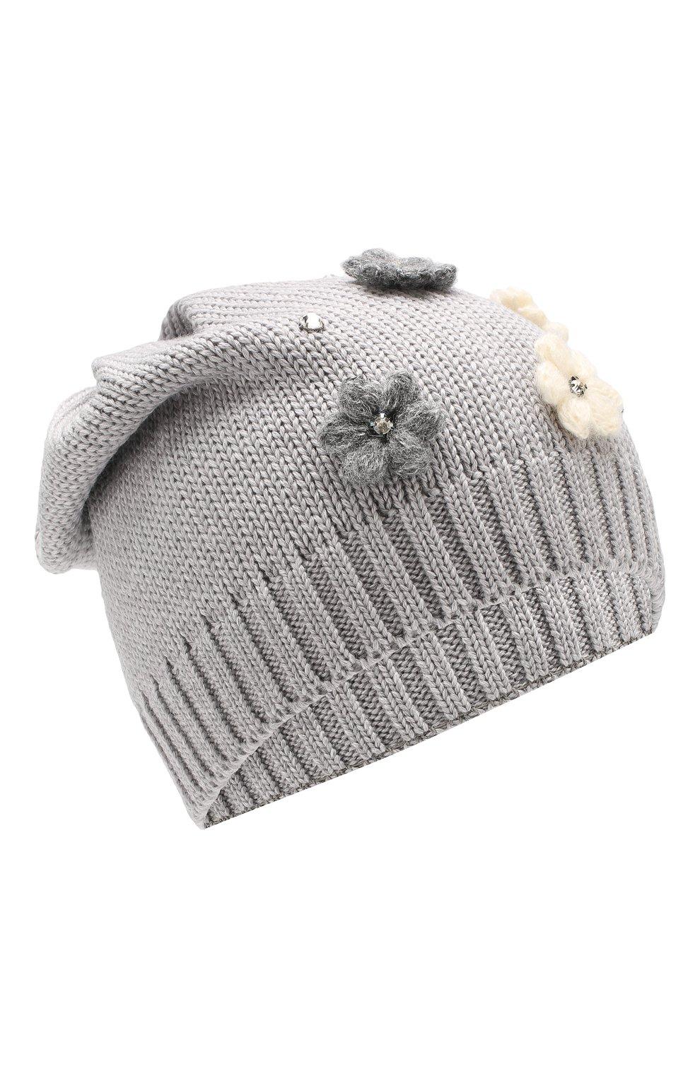 Детского шерстяная шапка IL TRENINO серого цвета, арт. 19 5942/E0 | Фото 1