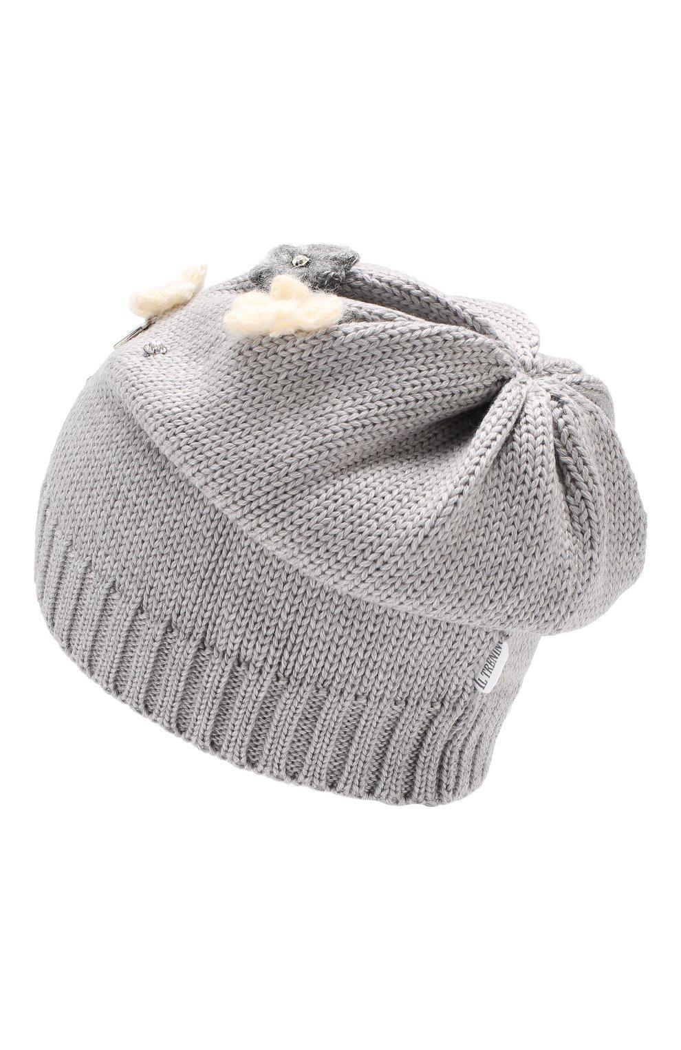 Детского шерстяная шапка IL TRENINO серого цвета, арт. 19 5942/E0 | Фото 2