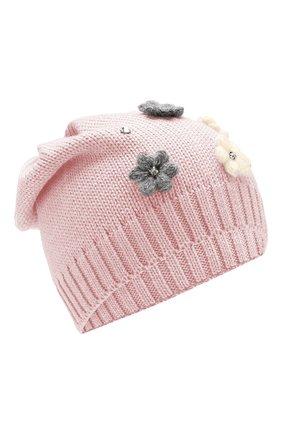 Детского шерстяная шапка IL TRENINO розового цвета, арт. 19 5942/E0 | Фото 1