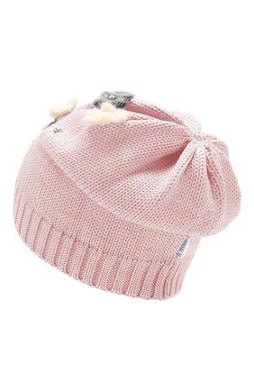 Детского шерстяная шапка IL TRENINO розового цвета, арт. 19 5942/E0 | Фото 2