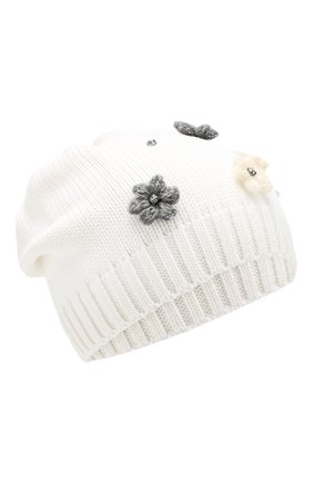 Детского шерстяная шапка IL TRENINO белого цвета, арт. 19 5942/E0 | Фото 1