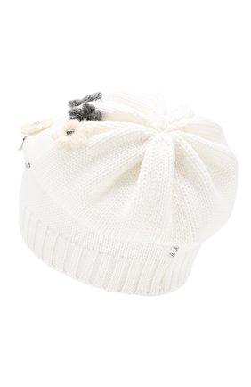 Детского шерстяная шапка IL TRENINO белого цвета, арт. 19 5942/E0 | Фото 2