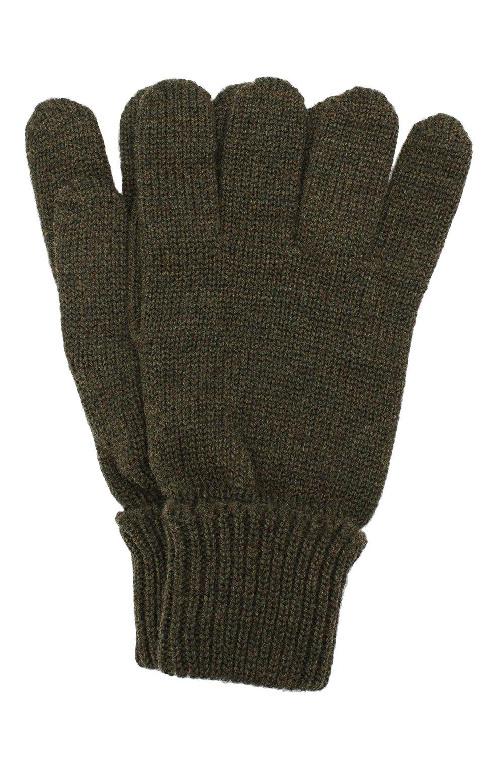 Детские шерстяные перчатки IL TRENINO хаки цвета, арт. 19 5059/E0   Фото 1
