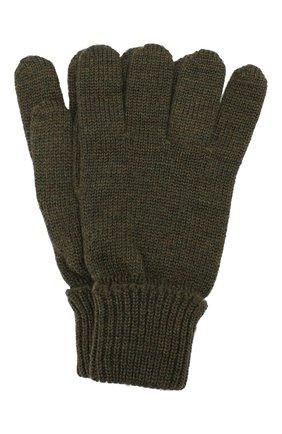 Детские шерстяные перчатки IL TRENINO хаки цвета, арт. 19 5059/E0 | Фото 1