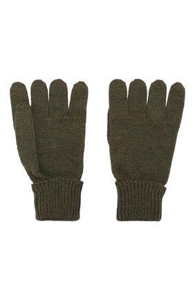 Детские шерстяные перчатки IL TRENINO хаки цвета, арт. 19 5059/E0 | Фото 2