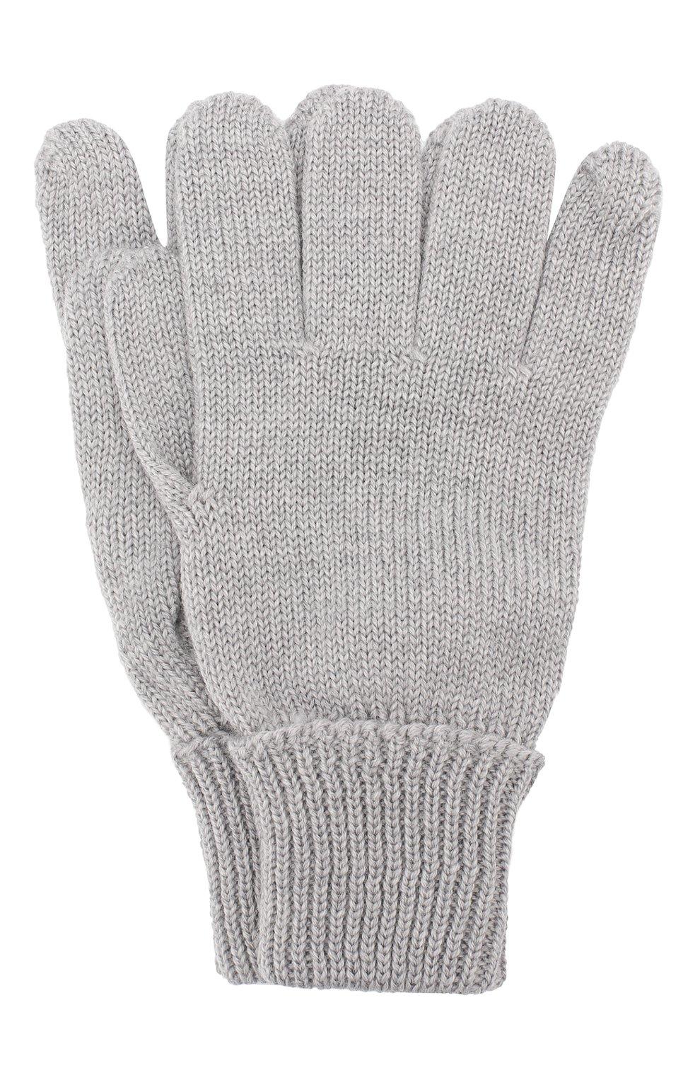 Детские шерстяные перчатки IL TRENINO серого цвета, арт. 19 5059/E0   Фото 1 (Материал: Шерсть; Статус проверки: Проверено, Проверена категория)