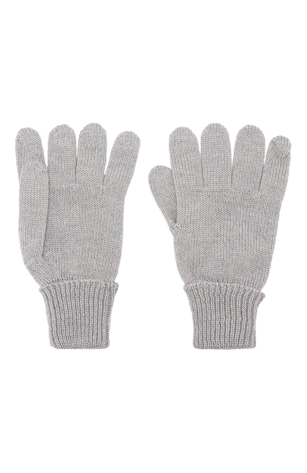 Детские шерстяные перчатки IL TRENINO серого цвета, арт. 19 5059/E0   Фото 2 (Материал: Шерсть; Статус проверки: Проверено, Проверена категория)