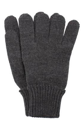 Детские шерстяные перчатки IL TRENINO темно-серого цвета, арт. 19 5059/E0 | Фото 1