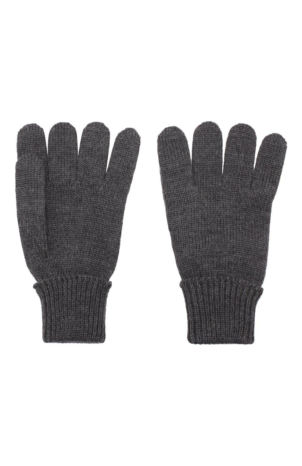 Детские шерстяные перчатки IL TRENINO темно-серого цвета, арт. 19 5059/E0 | Фото 2