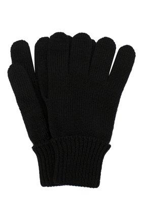 Детские шерстяные перчатки IL TRENINO черного цвета, арт. 19 5059/E0 | Фото 1