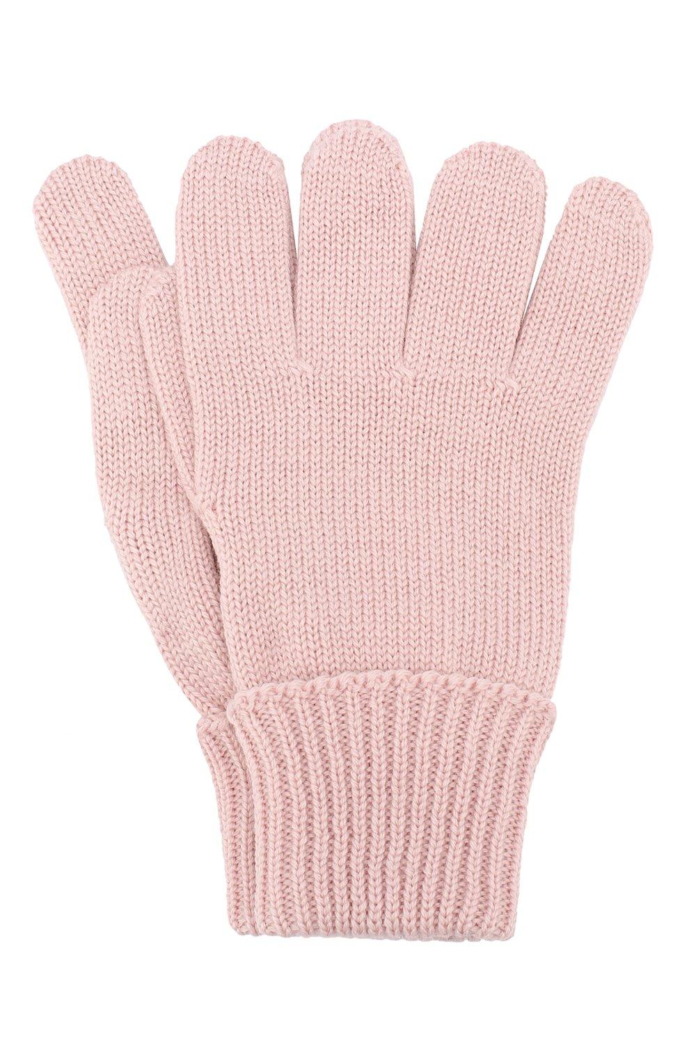 Детские шерстяные перчатки IL TRENINO розового цвета, арт. 19 5059/E0 | Фото 1