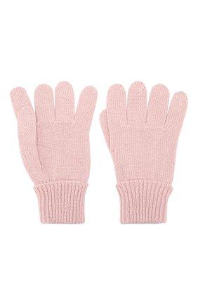Детские шерстяные перчатки IL TRENINO розового цвета, арт. 19 5059/E0 | Фото 2