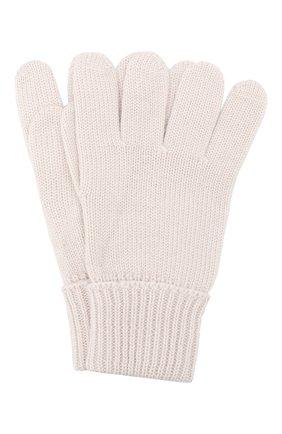 Детские шерстяные перчатки IL TRENINO бежевого цвета, арт. 19 5059/E0 | Фото 1
