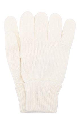 Детские шерстяные перчатки IL TRENINO белого цвета, арт. 19 5059/E0 | Фото 1