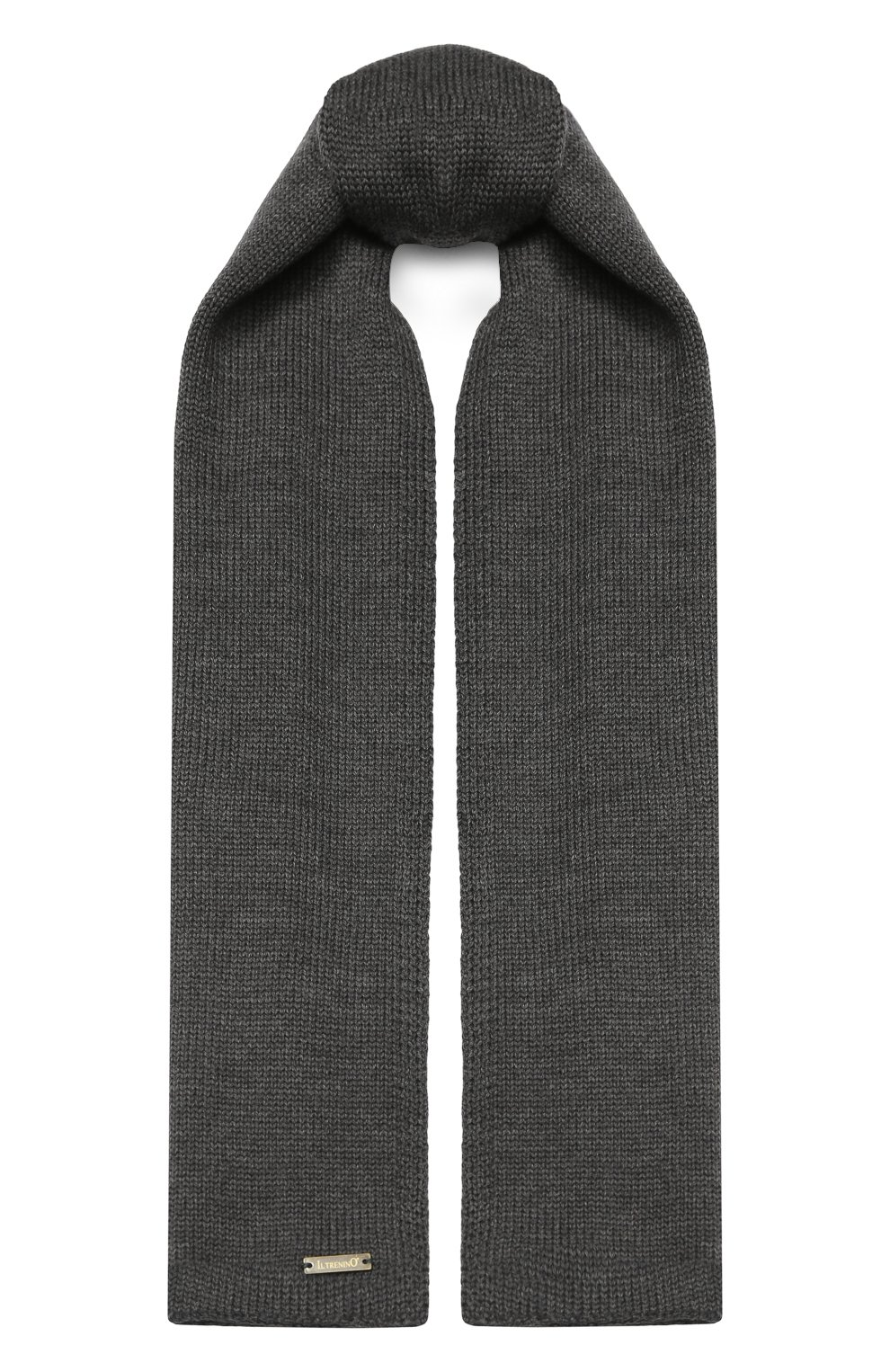 Детский шерстяной шарф IL TRENINO темно-серого цвета, арт. 19 1121/E0 | Фото 1