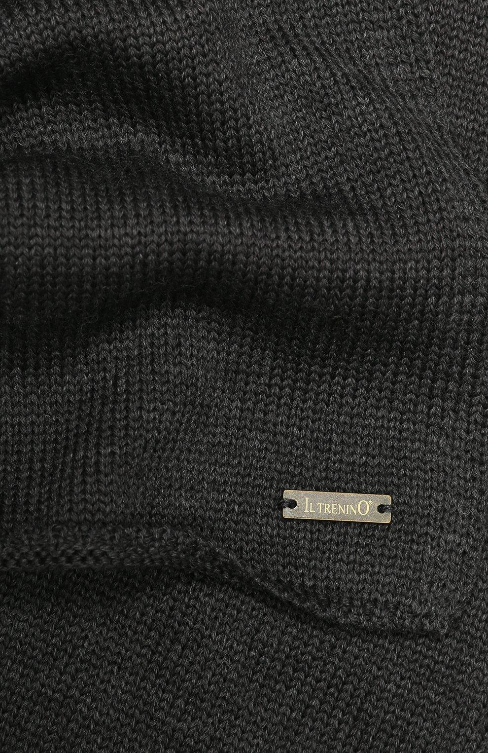 Детский шерстяной шарф IL TRENINO темно-серого цвета, арт. 19 1121/E0 | Фото 2
