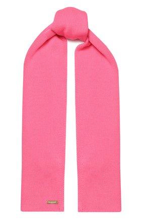 Детский шерстяной шарф IL TRENINO розового цвета, арт. 19 1121/E0 | Фото 1