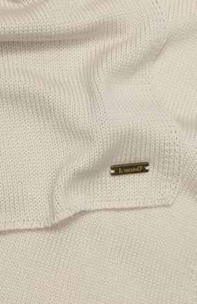 Детский шерстяной шарф IL TRENINO бежевого цвета, арт. 19 1121/E0 | Фото 2