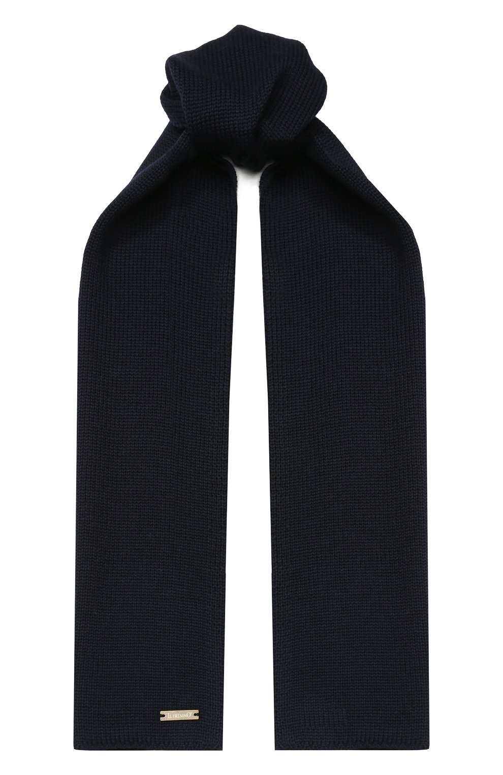Детский шерстяной шарф IL TRENINO темно-синего цвета, арт. 19 1121/E0 | Фото 1