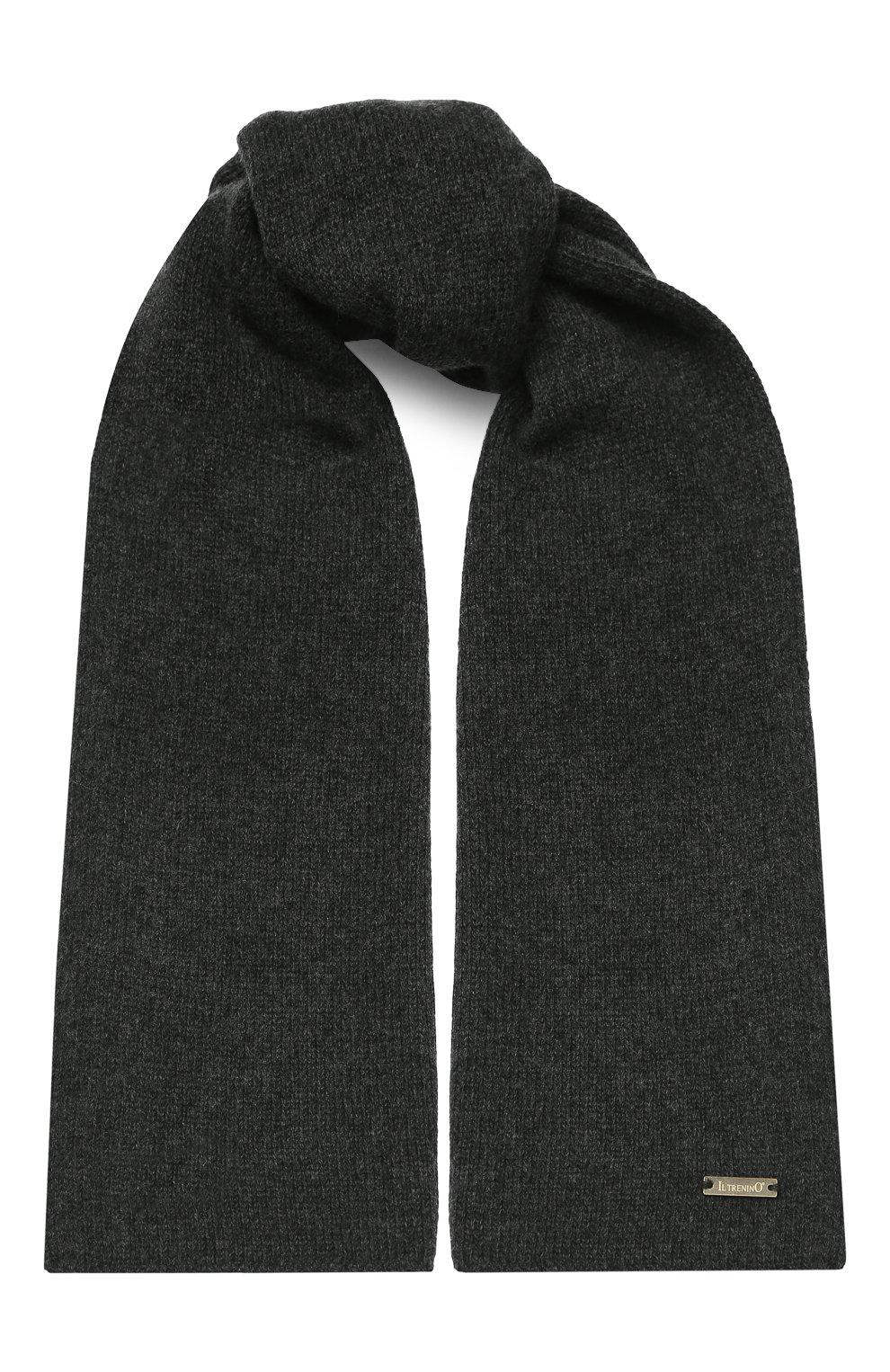 Детский шарф из шерсти и кашемира IL TRENINO темно-серого цвета, арт. 17 5150/E0 | Фото 1