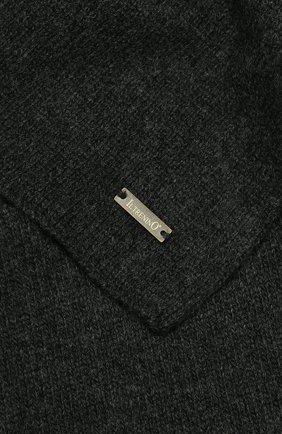 Детский шарф из шерсти и кашемира IL TRENINO темно-серого цвета, арт. 17 5150/E0 | Фото 2