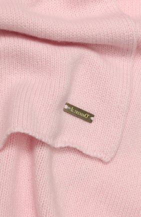 Детский шарф из шерсти и кашемира IL TRENINO светло-розового цвета, арт. 17 5150/E0 | Фото 2