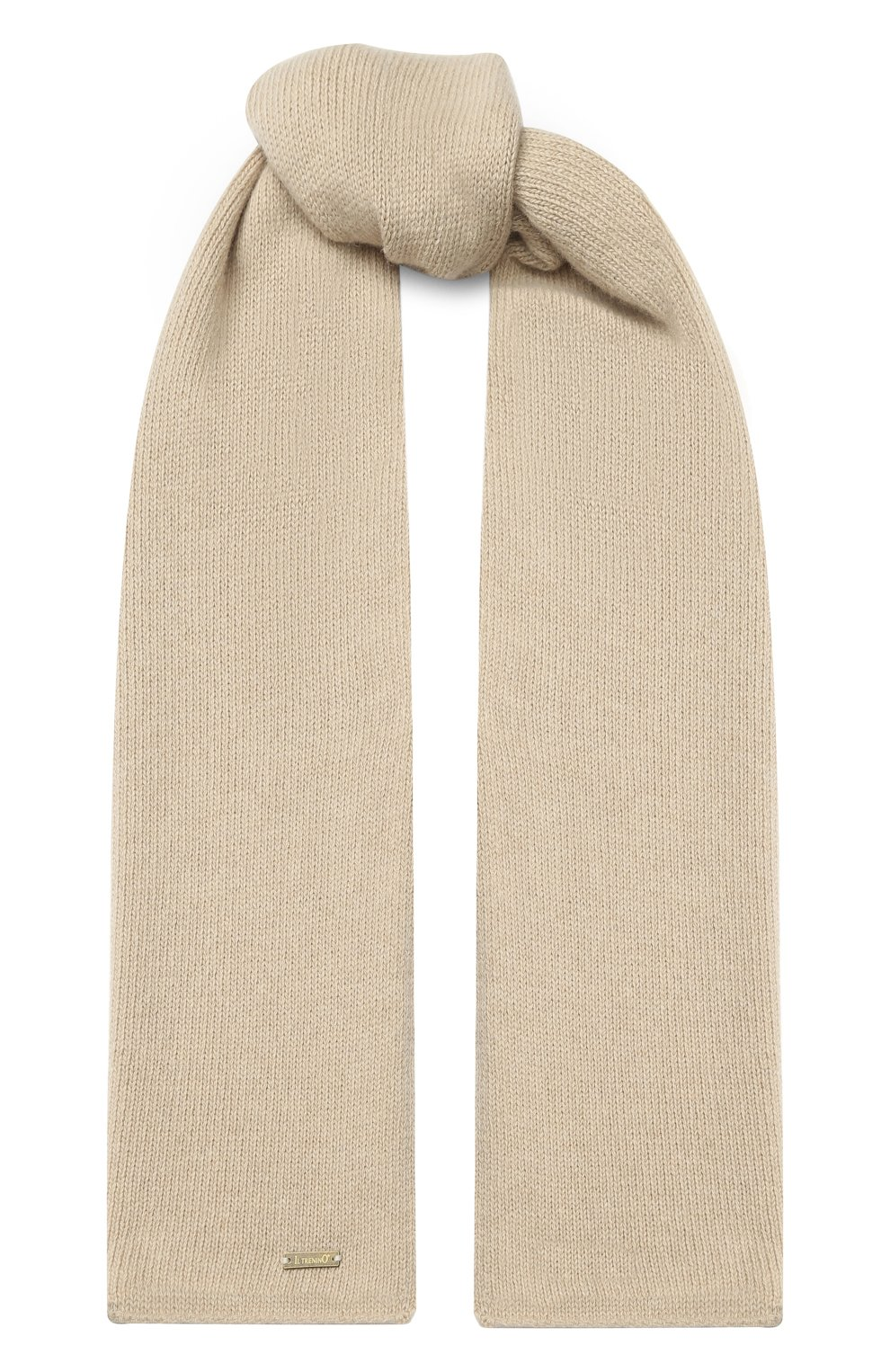 Детский шарф из шерсти и кашемира IL TRENINO бежевого цвета, арт. 17 5150/E0 | Фото 1