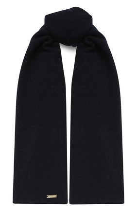 Детский шарф из шерсти и кашемира IL TRENINO темно-синего цвета, арт. 17 5150/E0 | Фото 1