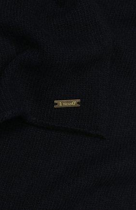 Детский шарф из шерсти и кашемира IL TRENINO темно-синего цвета, арт. 17 5150/E0 | Фото 2
