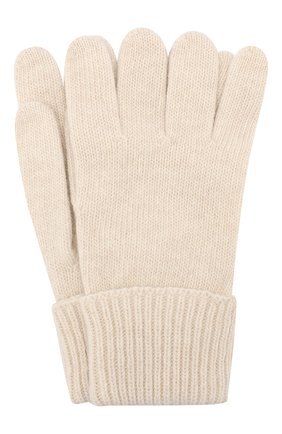 Детские перчатки из шерсти и кашемира IL TRENINO бежевого цвета, арт. 17 5139/E0 | Фото 1