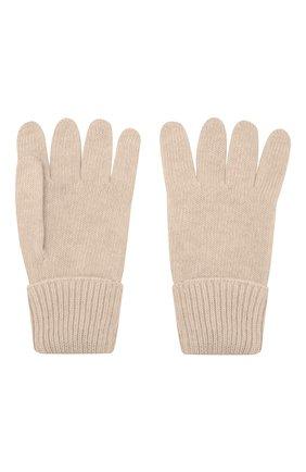 Детские перчатки из шерсти и кашемира IL TRENINO бежевого цвета, арт. 17 5139/E0   Фото 2