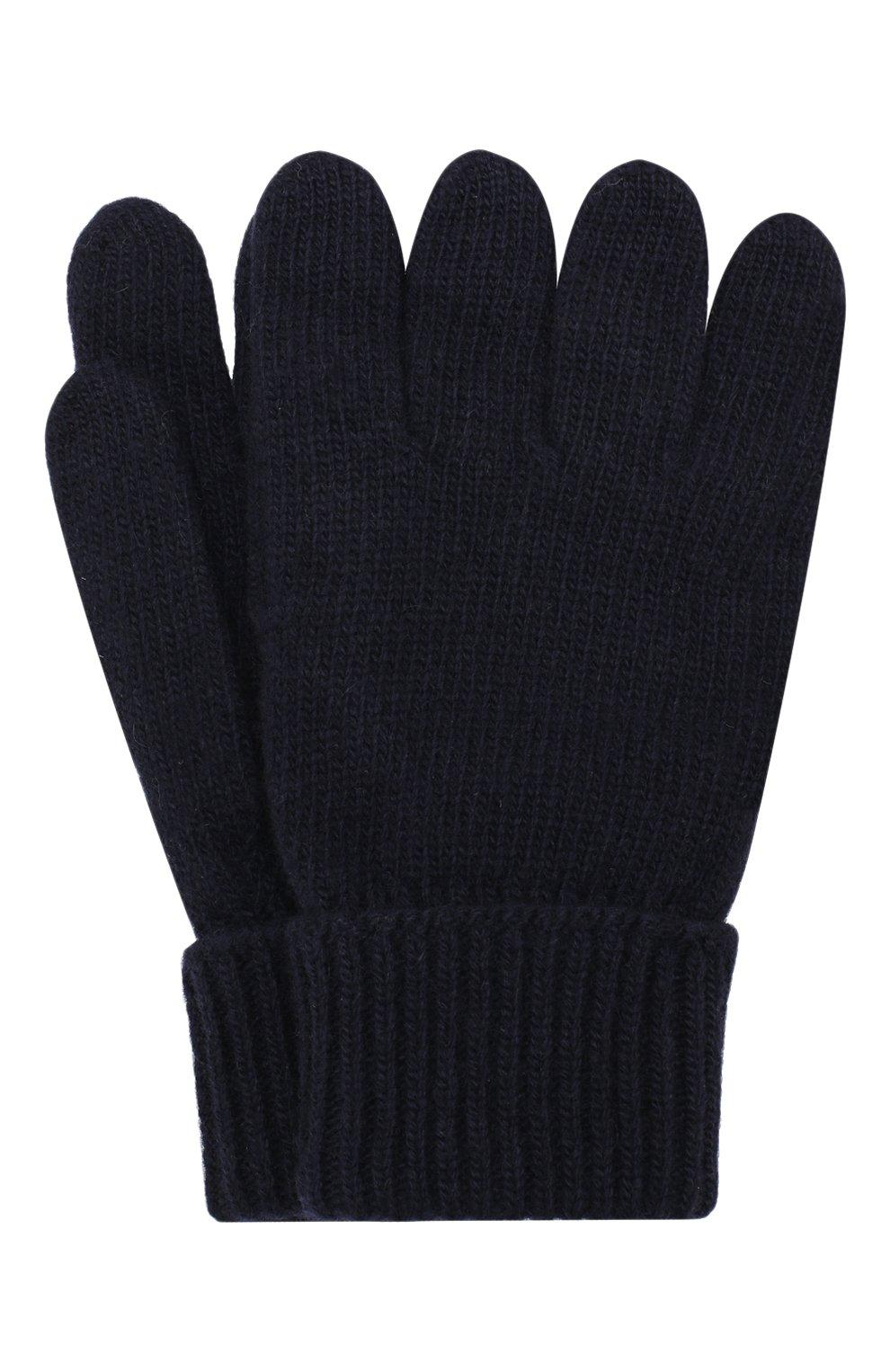 Детские перчатки из шерсти и кашемира IL TRENINO темно-синего цвета, арт. 17 5139/E0 | Фото 1