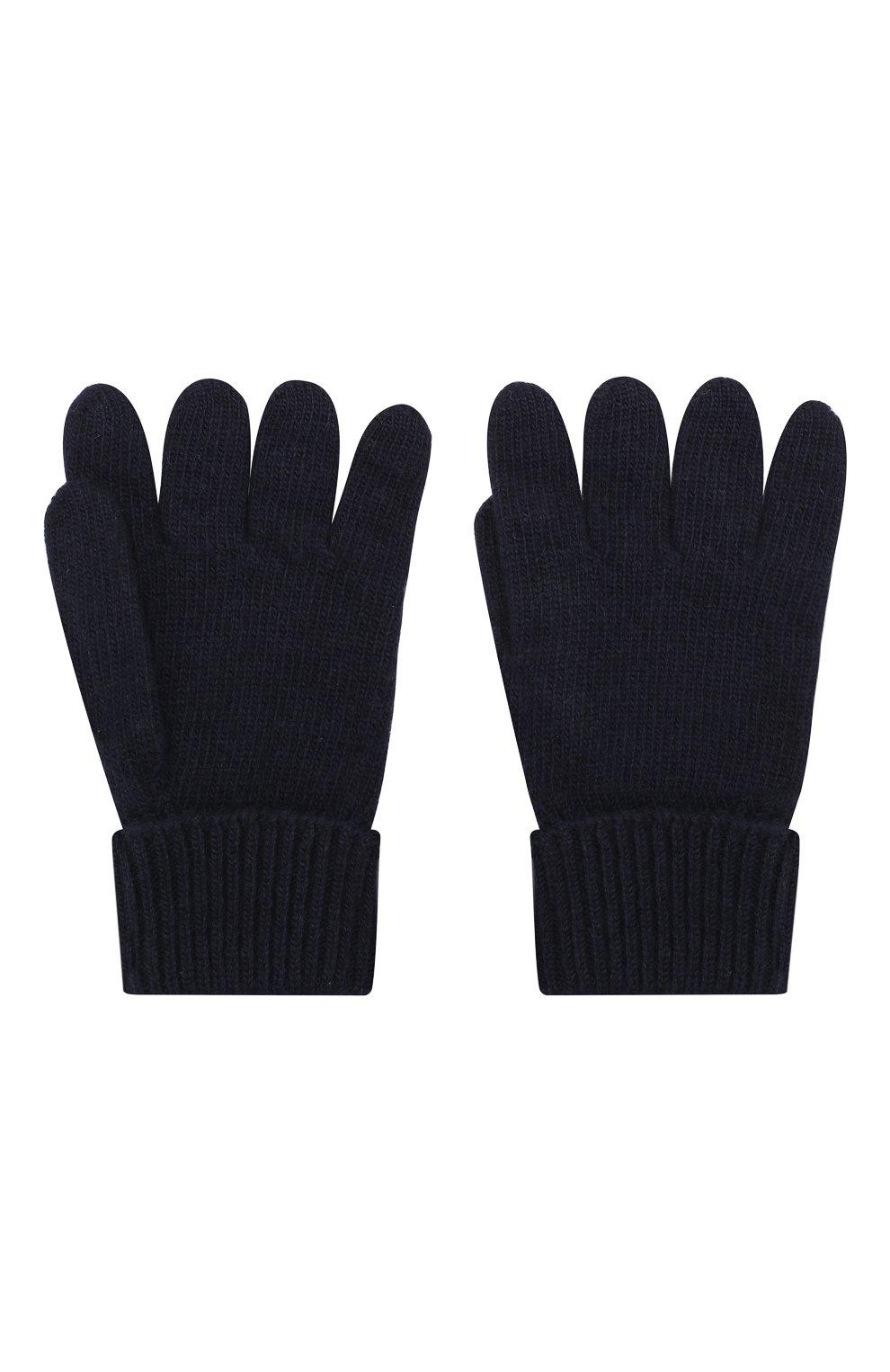 Детские перчатки из шерсти и кашемира IL TRENINO темно-синего цвета, арт. 17 5139/E0 | Фото 2