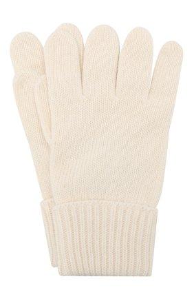 Детские перчатки из шерсти и кашемира IL TRENINO белого цвета, арт. 17 5139/E0 | Фото 1