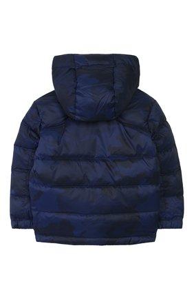 Детский пуховая куртка с капюшоном POLO RALPH LAUREN синего цвета, арт. 322746859 | Фото 2