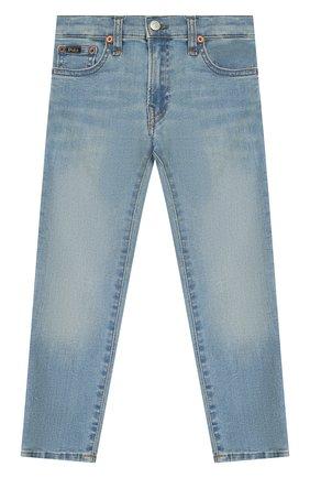 Детские джинсы POLO RALPH LAUREN голубого цвета, арт. 321750423 | Фото 1