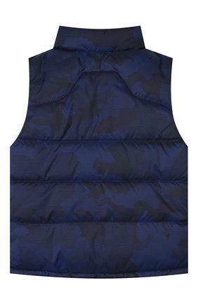 Детский пуховый жилет POLO RALPH LAUREN темно-синего цвета, арт. 321746861 | Фото 2