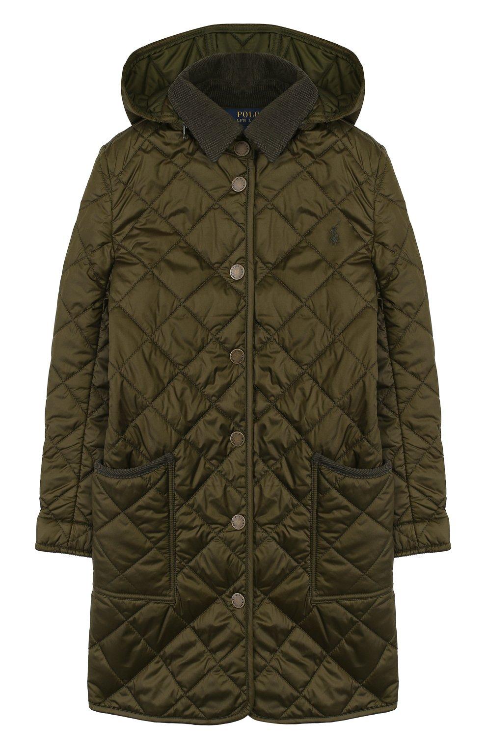 Стеганое пальто с капюшоном   Фото №1