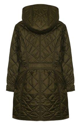 Стеганое пальто с капюшоном   Фото №2